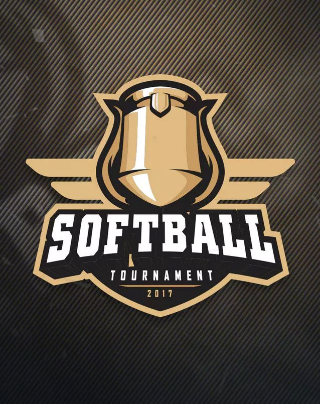 Softball Tournament Sports Logo Template Eps Ai