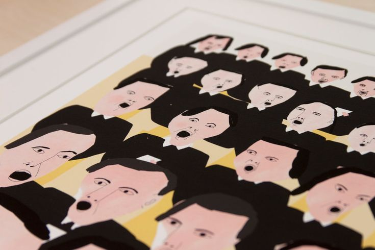 """Freja Erixån - """"Choir"""" Signed and numbered art print, limited edition of 15. Available at www.masterverk.com"""