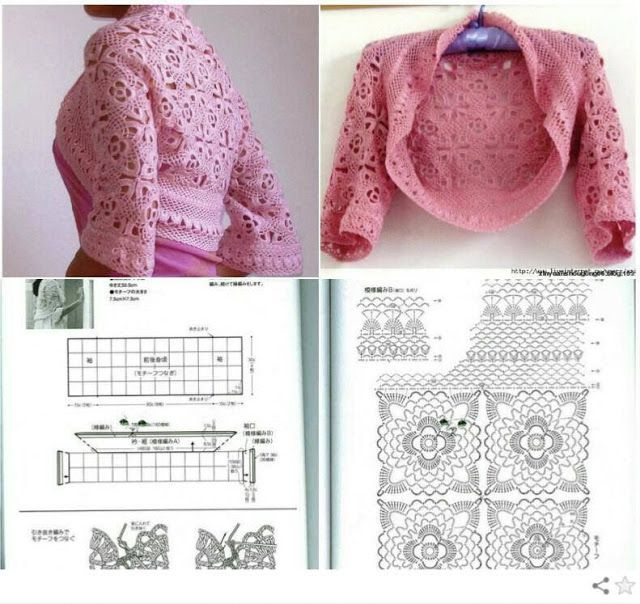 Free Crochet Charts for Two Summer Shrugs - Which one to Make ?