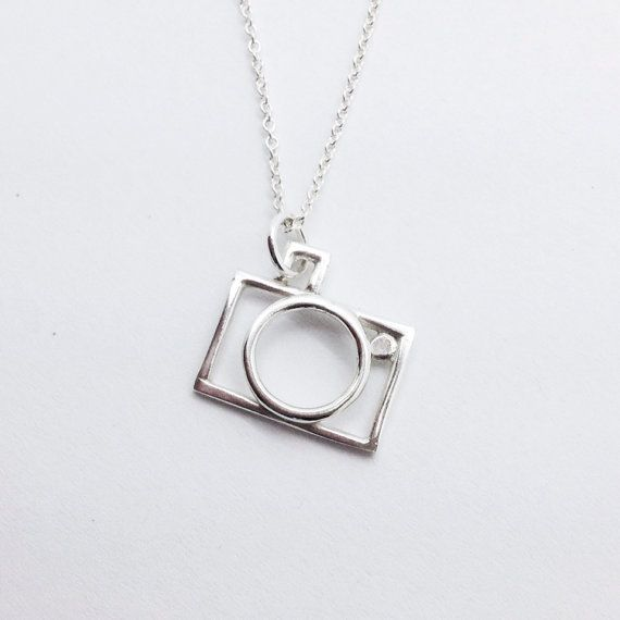 Tilted camera necklace sterling silver necklace by alwayzwithlove