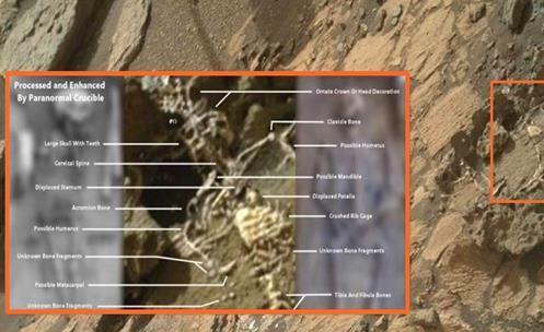 Extraterrestrial skeleton found on Mars?