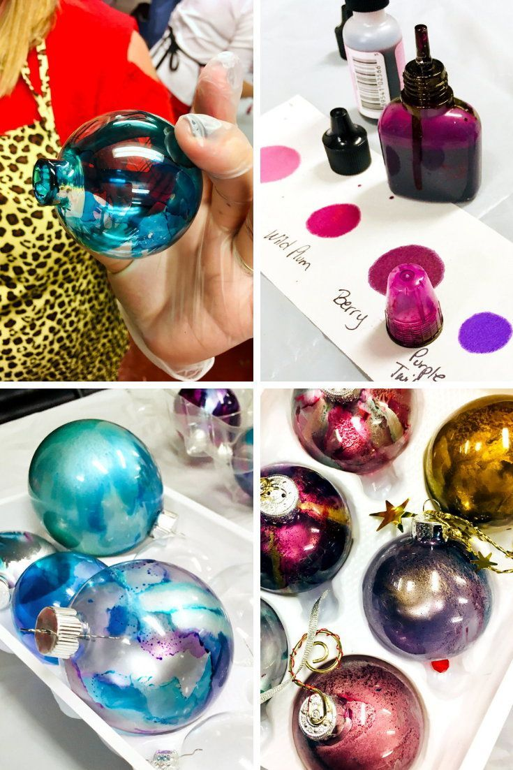 Alcohol Ink Ornaments Diy Video Tutorial For The Holidays