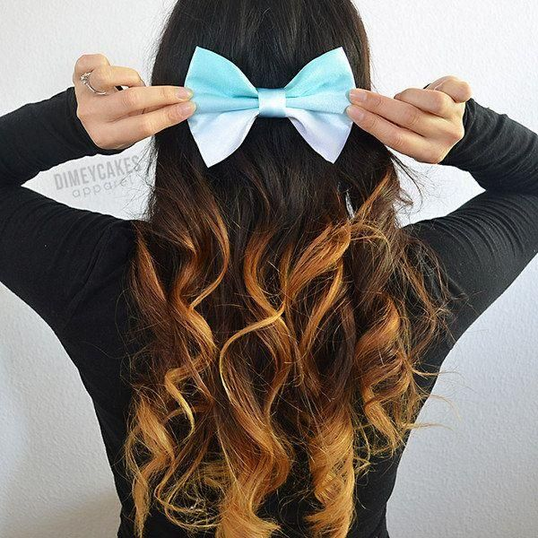 Mint Ombre Hair Bow