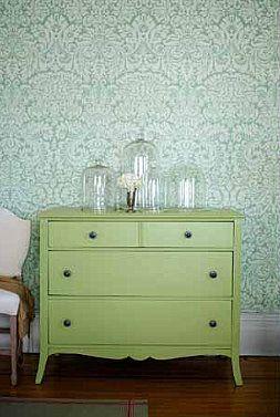 wallpaper cupboard bedside green mint robin's egg aqua pastel