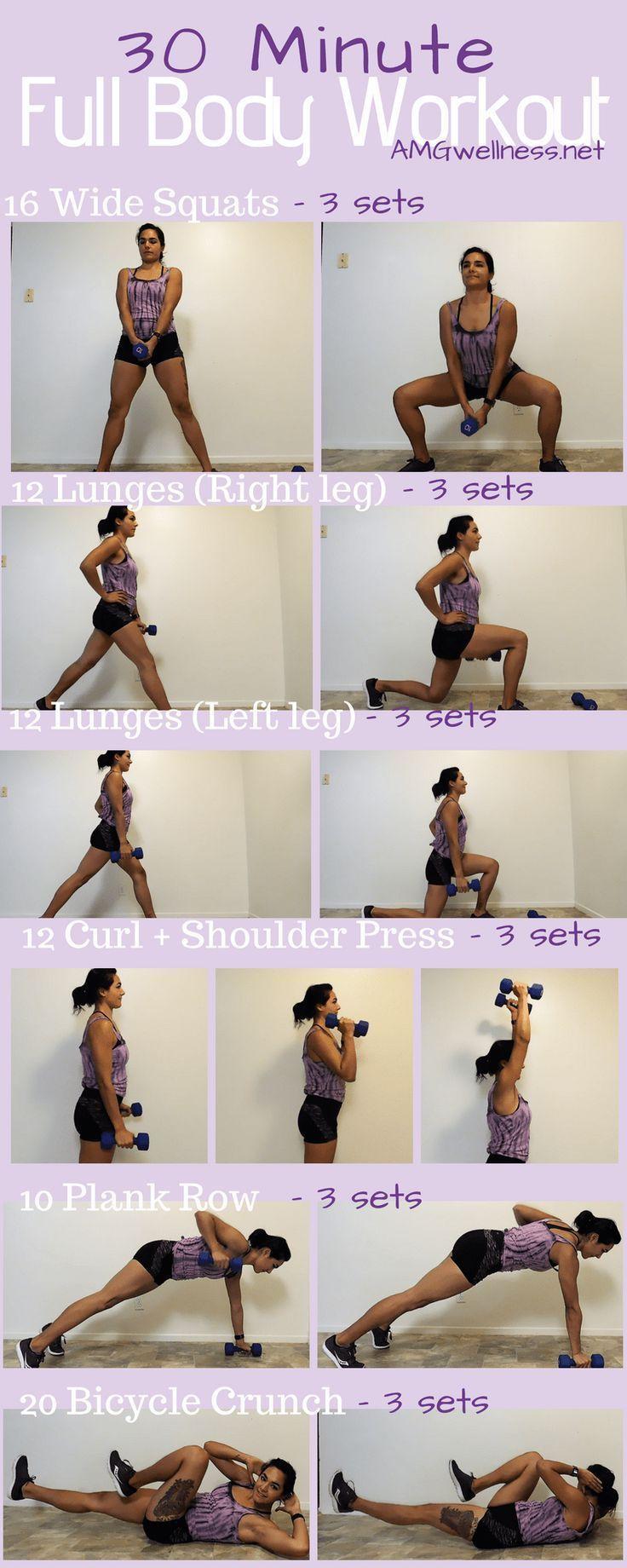 30 minute Full Body Workout (with dumbbells) – Amandas Wellness Blog