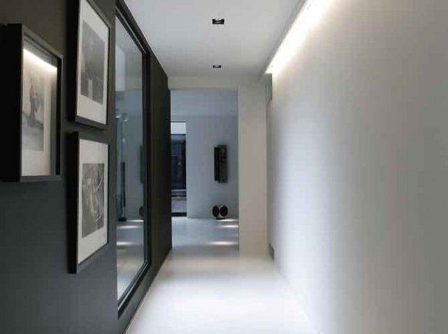 Mod le id e d co entr e couloir gris couloir couloir grise et idee deco entree - Decoration entree couloir ...