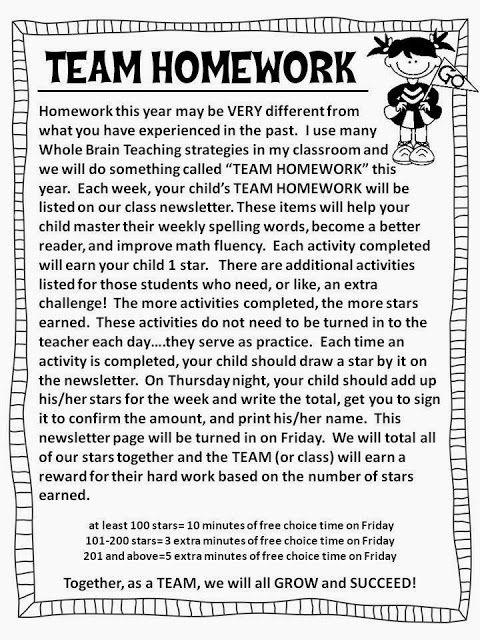 *Teaching Maddeness*: TEAM Homework....Homework That Everyone Loves!