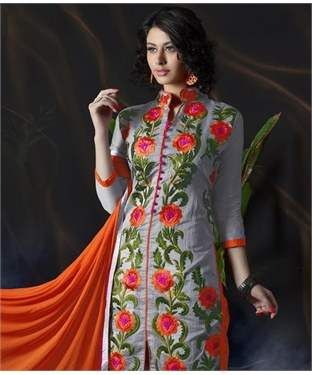 Chanderi Cotton Silk Suit with Dupatta | I found an amazing deal at fashionandyou.com and I bet you'll love it too. Check it out!