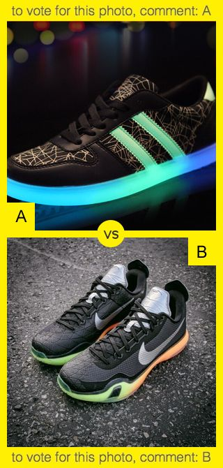 To vote for top photo comment A, to vote for bottom photo comment B. See results at http://swingvoteapp.com/#!polls/787. Click here http://swingvoteapp.mobi/ to install Swingvote mobile app and create your own polls.