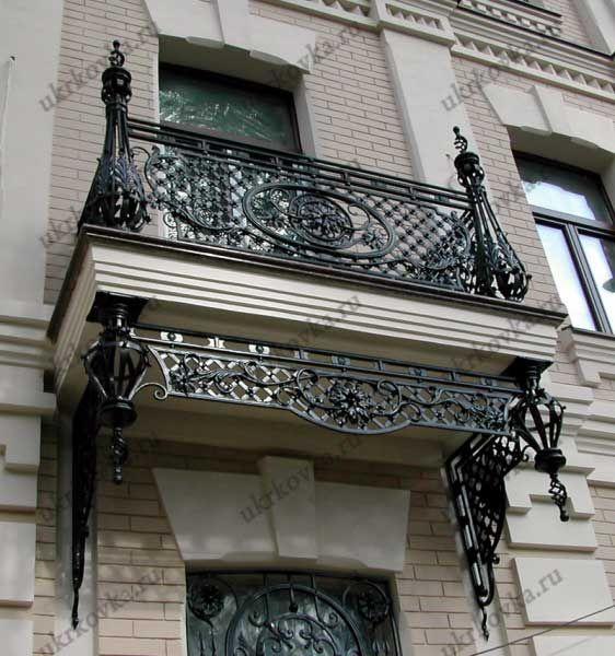 Кованые перила для балкона фото и цены изготовление в Москве от УкрКовка