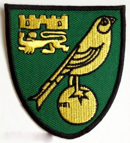 Norwich City FC Club Crest Patch 3 Inch Embroidered Iron on Badge Soccer Team Applique DIY >>> More info could be found at the image url.