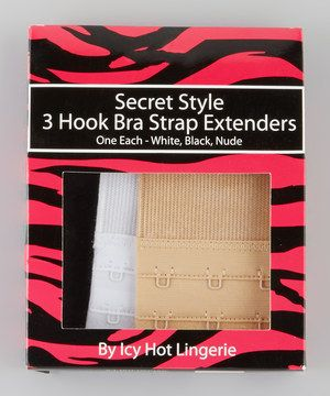 Need a little length on your bra? With this set of 3-hook bra strap extenders, now every bra can be adjusted to ensure a perfect fit.