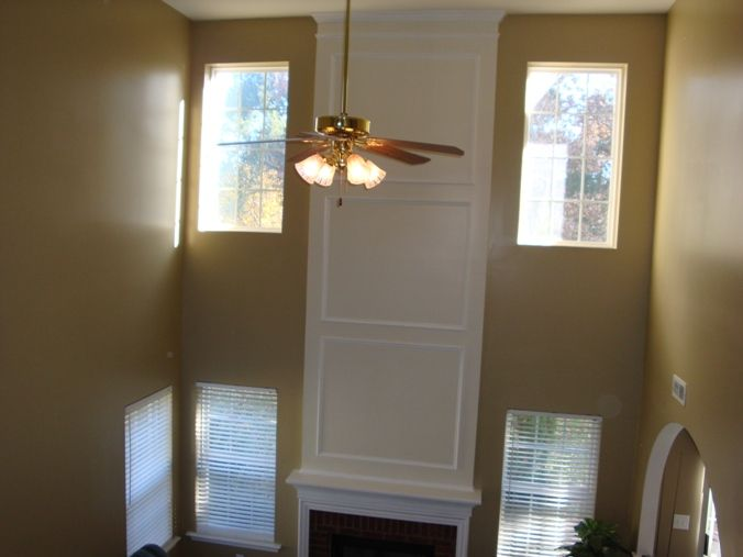 2 Story Window Living Rooms Story Living Room View With