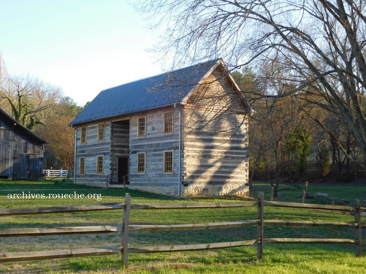 The relocated and restored Ambrose Gaines / John Reuben Anderson house, c. 1805, at the Exchange Place in Kingsport, TN.