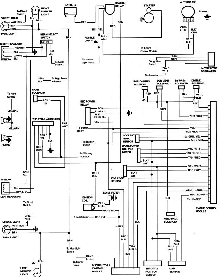 1985 F250 5.8L wiring diagrams and fuse box diagram - Ford Truck ... Fuse Box 1985 F 250 Pinterest