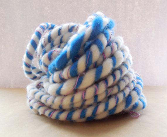Handspun Yarn Ultra bulky art yarn 5.6oz 20 yards by SpinHeartSpin, $20.00