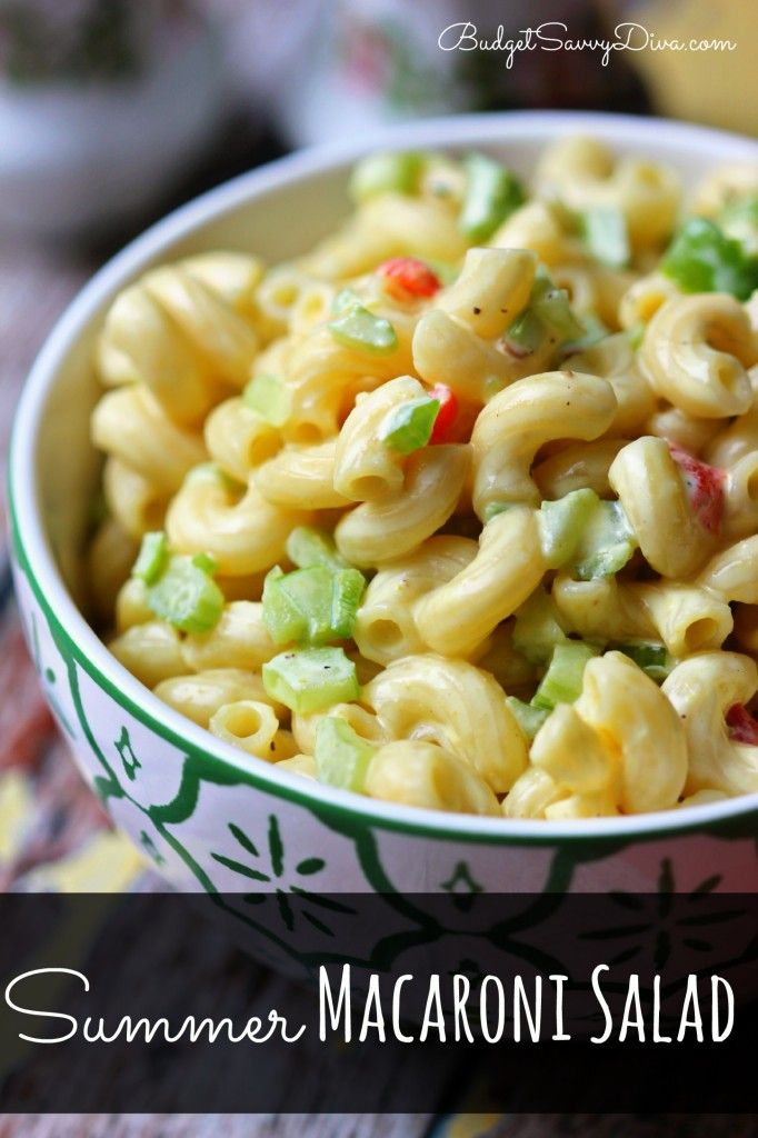 Summer Macaroni Salad Recipe | Budget Savvy Diva