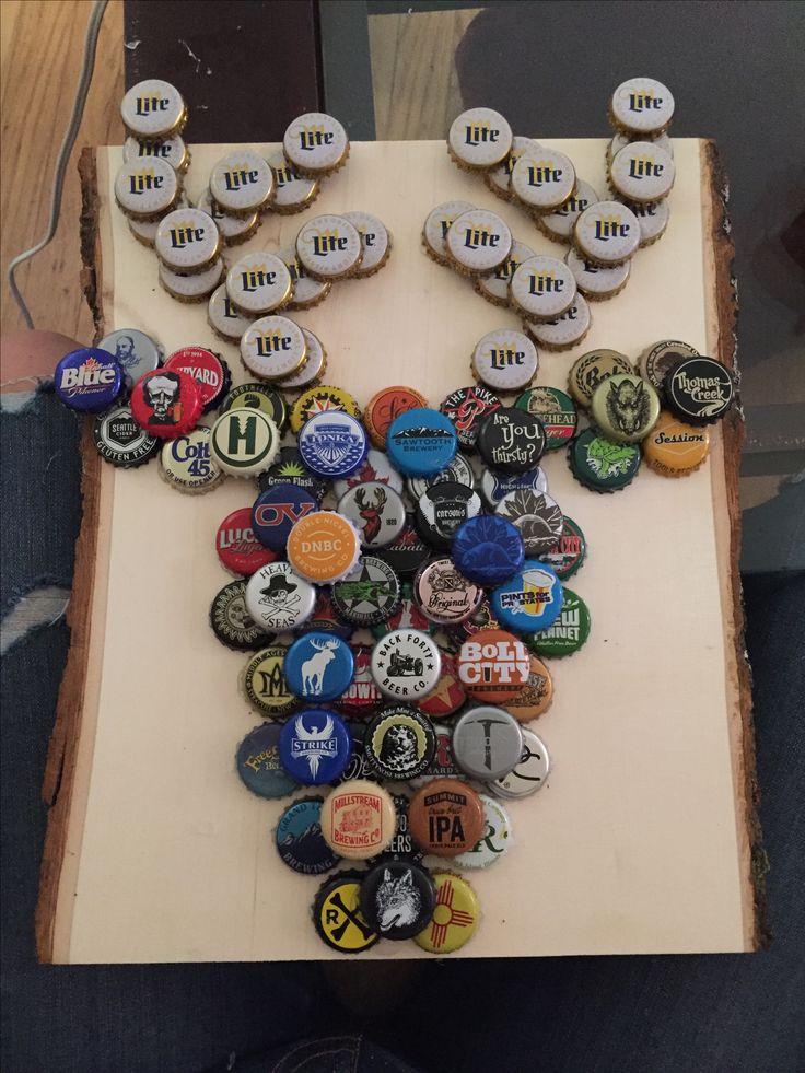 how to make bottle cap art