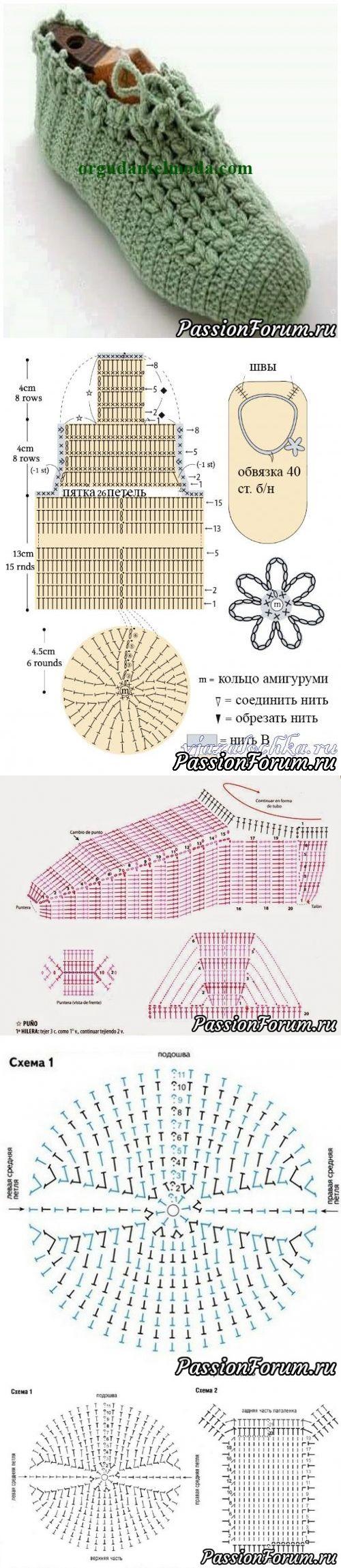 Следочки или носочки? Идеи и схемы собрала в интернете