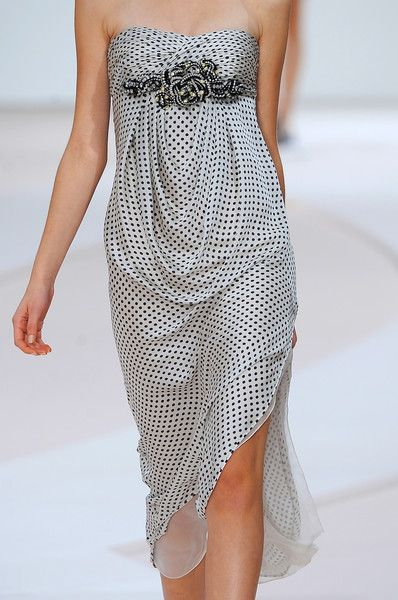 Valentino, i could see this being a perfect maternity dress with all the gathering at the stomach