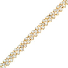 """""""On Stage""""  $89.99 CAD - This classic tennis bracelet features a row of V shapped triple A cubic zirconias. Finished in rich rhodium. 7.5"""" bracelet. Nickel and lead free. ONLY SILVER AVAILABLE."""