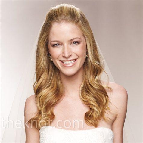 Half up half down: Hair Ideas, Half Up, Curly Locks, Hair Styles, Wedding Ideas, Weddings, Bridal Hair, Wedding Hairstyles, Long Curly