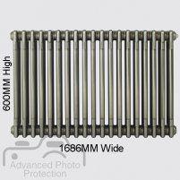 Revive 600H x 1686W 3 Column Horizontal Raw Metal Radiator