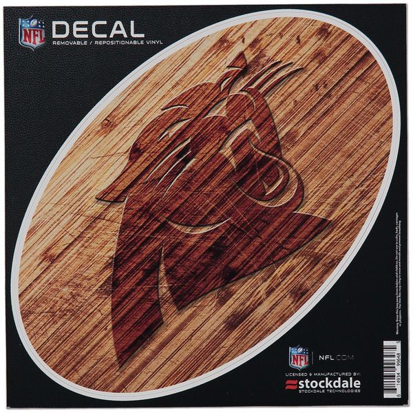 """Carolina Panthers 8"""" x 8"""" Wood Oval Repositionable Decal - $7.99"""