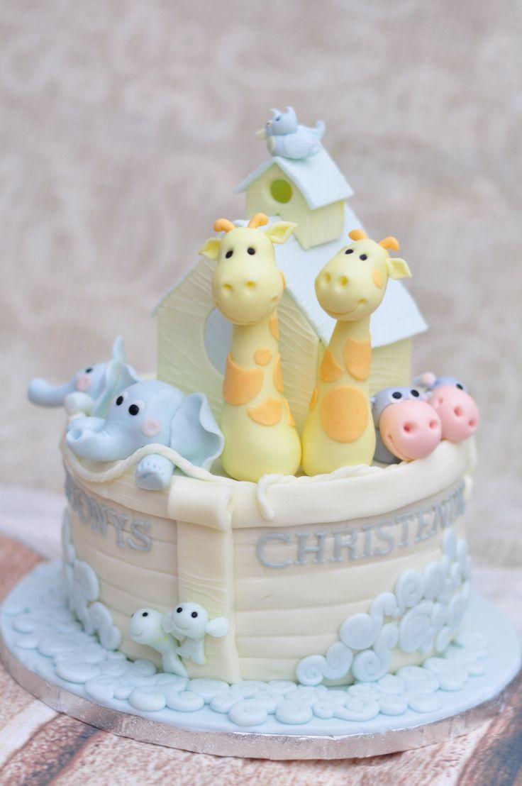 Noah's Ark cake #christening cake #cuteboyscake