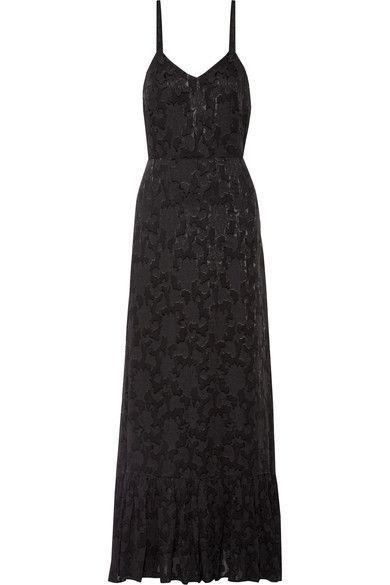 Co - Fil Coupé Chiffon Maxi Dress - Black