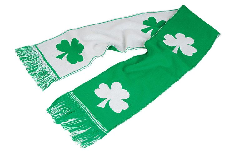 "St Patricks Day Irish Shamrocks Scarf 12 Pack 48"" Green White Novelty Apparel #stpatrick"
