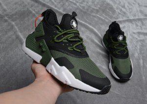 sports shoes 08462 594ea Mens Womens Nike Air Huarache Drift Premium Olive Green Black White Running Shoes  Nike Air Huarache
