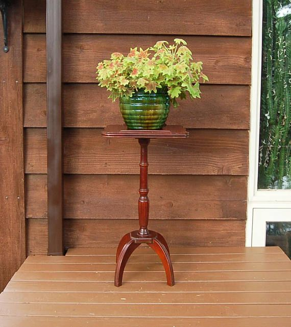Vintage Pedestal Stand Wooden Plant Stand Table Stand