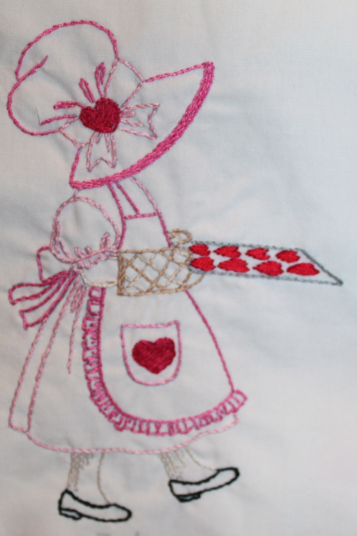 Sunbonnet Sue for February.