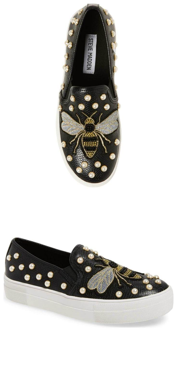 Women's Steve Madden Polly Bee Embellished Slip-On Platform Sneaker #ad #bees
