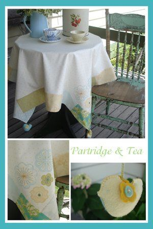"""""""Partridge & Tea"""" designed by Simone Gooding for May Blossom."""