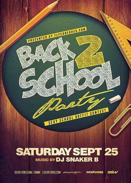 Back to School Party Flyer Template - http://ffflyer.com/back-to-school-party-flyer-template/ Enjoy downloading the Back to School Party Flyer Template created by Flyerheroes   #Classy, #Club, #Dance, #Dancing, #Dj, #Edm, #Electro, #Event, #Graduation, #Nightclub, #Party, #School, #Study