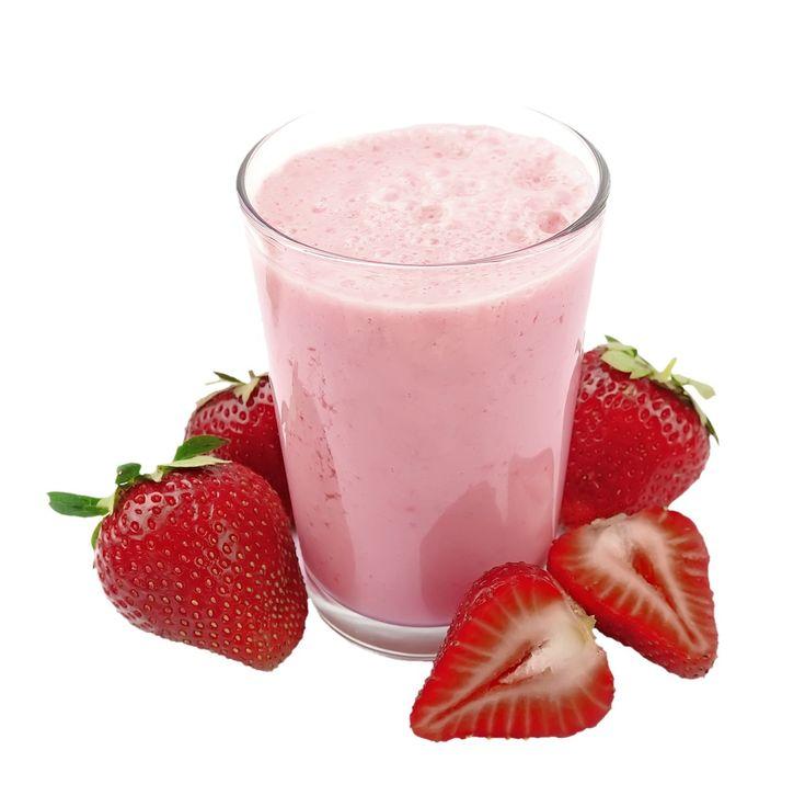 Ovocno-bielkovinový drink s jahodami