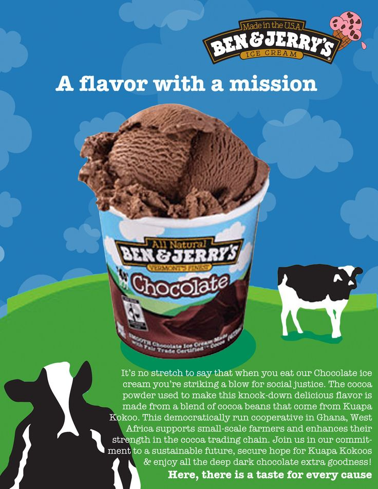 the marketing strategies of ben jerry company But while ms asch has regularly been measuring the company's carbon  ben & jerry's integrated marketing  these aren't just ad strategies.
