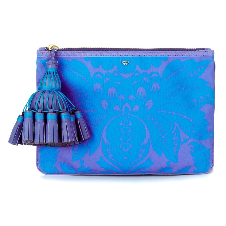 The Courtney Damask Clutch