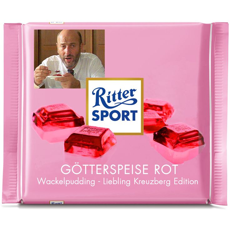 Ritter Sport Fake Sorte - Götterspeise