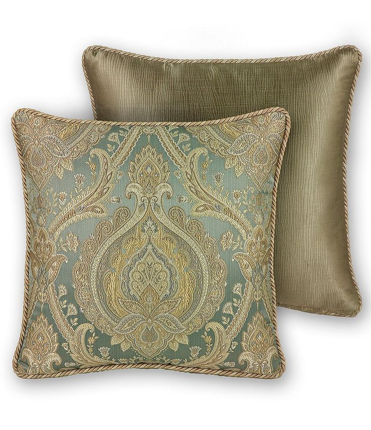 Rose Tree Norwich Damask Square Pillow Rose trees