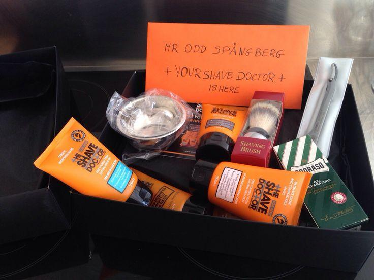"""Groomingbox by Odd Spångberg. Order """"Your Shave Doctor"""" Groomingbox here: www.groomingbox.com #groomingbox #shavedoctor #proraso #dovo #shavette #cutthroat #straightrazor #shavingbrush #shavingrazor #shavingbowl #benjaminbarber"""