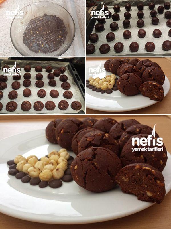 Fındıklı Damla Çikolatalı Browni Kurabiye