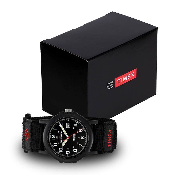 #Timex #Expedition #Camper T40011 schwarze #Outdoor-Uhr für Herren – Textilband mit Klettverschluss