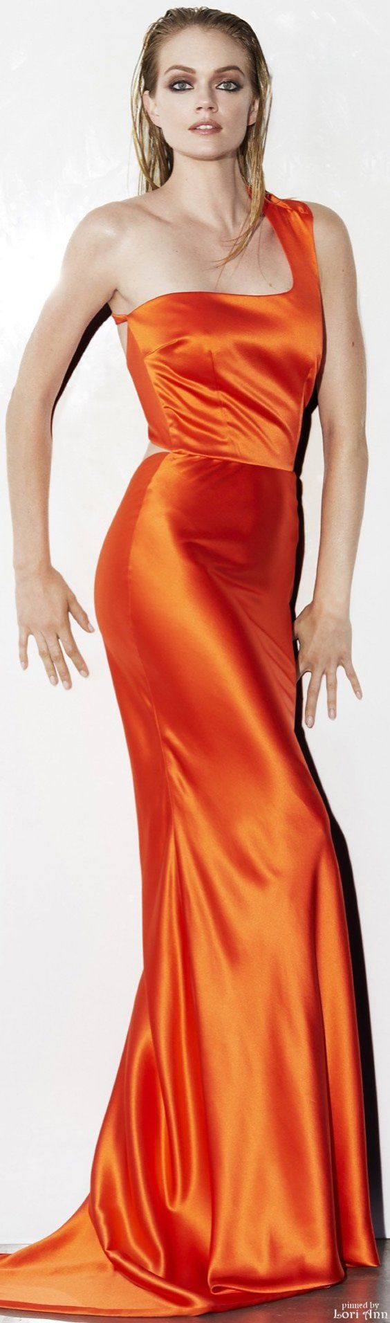 Sophie Theallet Resort 2016 -- one of my favorite colors and fabrics, I love this one!