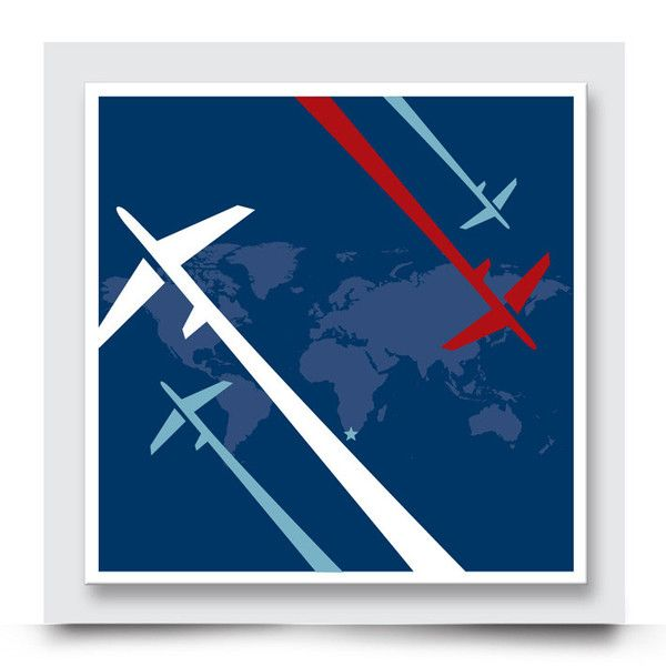 DASHING PLANES wall art comes printed on stretched canvas or box framed & can be personalised.This bold & funky artwork compliments the other designs in the Graphic Planes Collection and is perfect for decorating the walls of a boys' nursery, bedroom or playroom. Order your art print from http://www.madicleo.com/collections/wall-art-for-boys-rooms