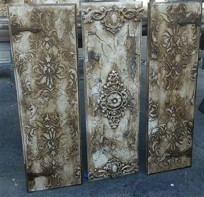 Michelle Butler Designs Set Of 3 Wall Panels Handpainted & Jeweled SHOP www.crownjewrl.design