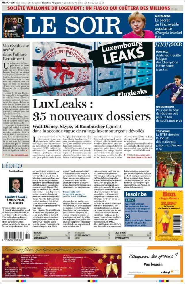 Tax Evasion: 'LuxLeaks: 35 new files'   VoxEurop.eu: European news, cartoons and press reviews