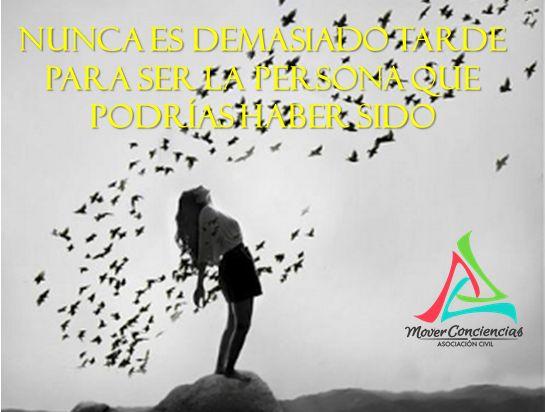 Nunca es demasiado tarde para ser la persona que podrías haber sido  #Frases #MoverConciencias